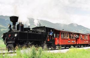 Le train a vapeur de la vallee de zillertal a